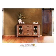 """View Product - 59"""" Console, 2 glass doors, 3 drawers"""