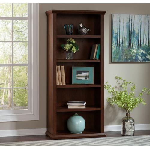 Yorktown Tall 5 Shelf Bookcase - Antique Cherry