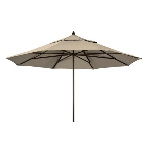 Commercial Market Umbrella 11' Powdercoat Aluminum Commercial Market Umbrella