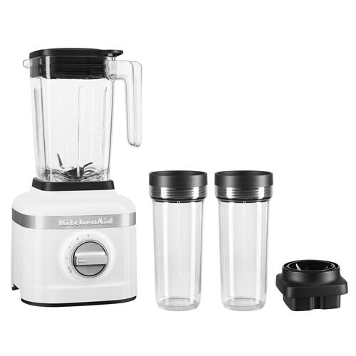 K150 3 Speed Ice Crushing Blender with 2 Personal Blender Jars - White