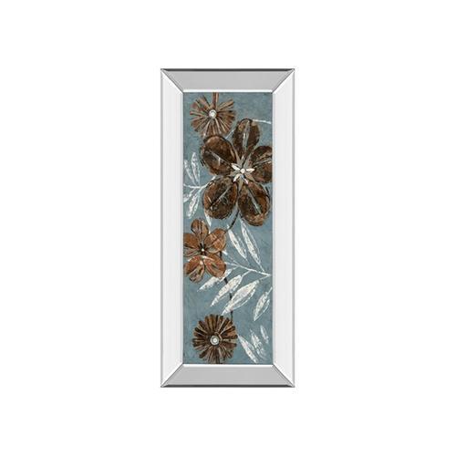 Denim Garden II By Maria Donovan (mirrored Frame)