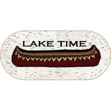 """Cozy Cabin Lake Time 20""""x44"""" Oval"""