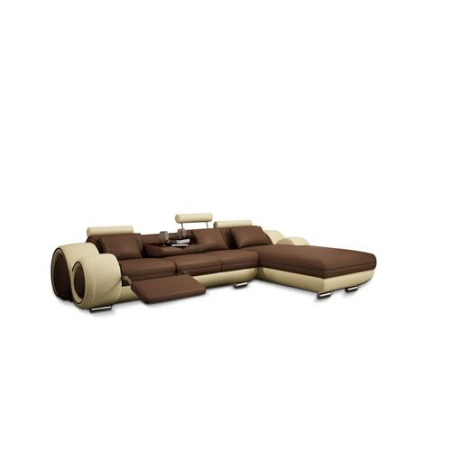 Divani Casa 4085 Modern Bonded Leather Sectional Sofa