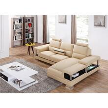 Divani Casa T717 Mini Modern Beige Sectional Sofa