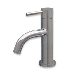 Waterhaus solid stainless steel, single hole, single lever faucet with matching solid stainless steel pop-up drain Product Image