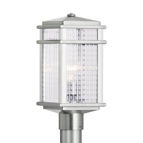 Mission Lodge Small Post Lantern Brushed Aluminum