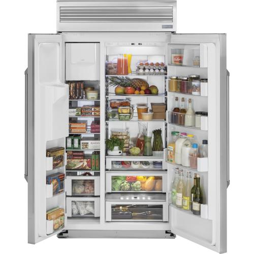 "Monogram 48"" Smart Built-In Professional Side-by-Side Refrigerator with Dispenser"