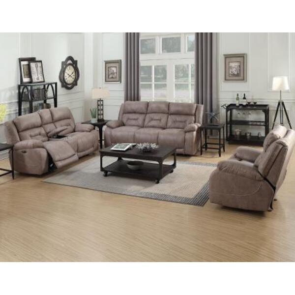 Aria Desert Sand 3 Piece Dual Power Motion Set(Sofa, Loveseat & Chair)