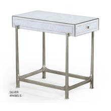 glomise & silver iron box top side table