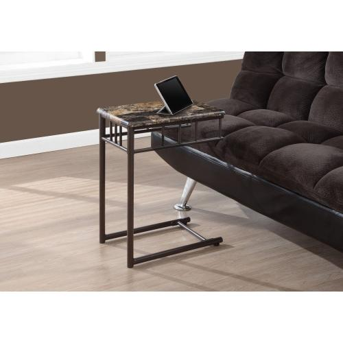 Gallery - ACCENT TABLE - ESPRESSO MARBLE / BRONZE METAL
