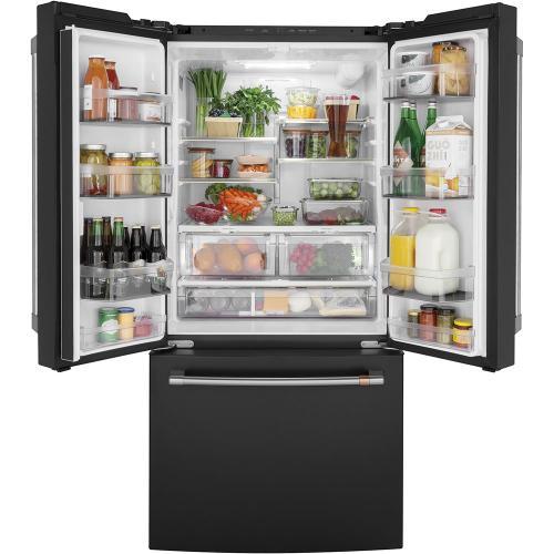 Café 18.6 Cu. Ft. Counter-Depth French-Door Refrigerator Matte Black