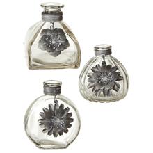 See Details - Short Bud Vase with Greywash Flower (3 pc. ppk.)