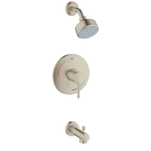 Concetto Pressure Balance Valve Tub/shower Combo