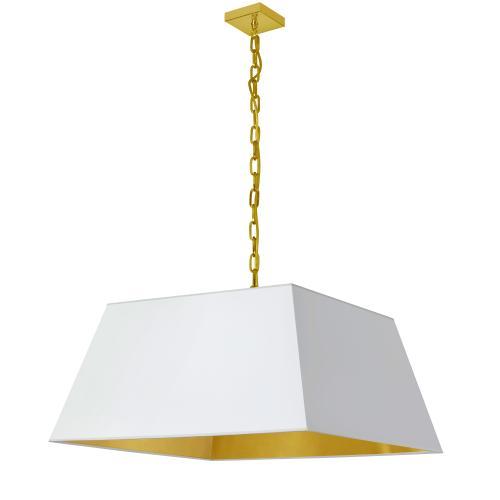 Product Image - 1lt Milano Large Pendant, Wht/gld Shade, Agb