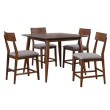 DLU-MC4848-B45-5P  5 Piece Square Counter Height Pub Table Dining Set  Padded Performace Fabric Seats