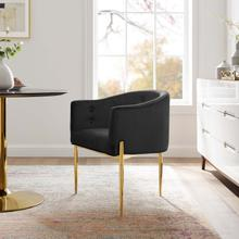 Savour Tufted Performance Velvet Accent Chair in Black