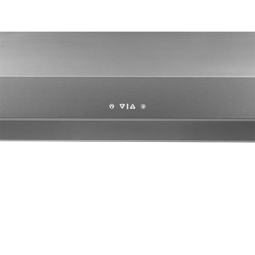 "48"" Chimney Wall Hood, Silver Stainless Steel"