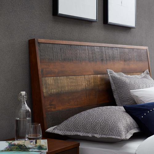 Modway - Arwen Queen Rustic Wood Bed in Walnut