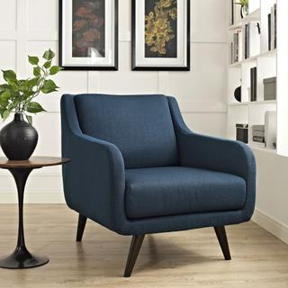 See Details - Verve Upholstered Fabric Armchair in Azure