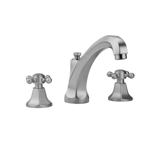 Jaclo - Caramel Bronze - Astor High Profile Faucet with Ball Cross Handles & Fully Polished & Plated Pop-Up Drain