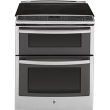 "Floor Model - GE Profile Series 30"" Slide-In Front Control Double Oven Electric Convection Range"