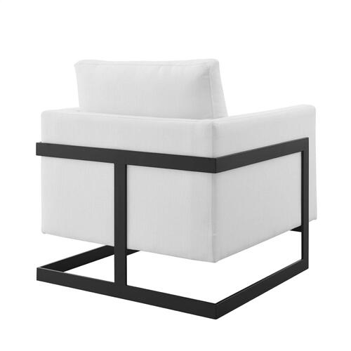Modway - Posse Upholstered Fabric Accent Chair in Black White
