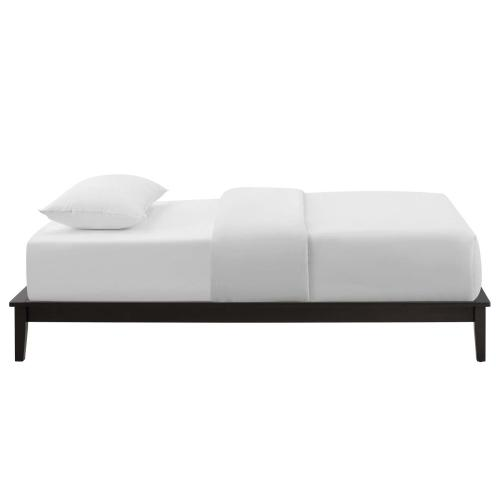 Lodge Twin Wood Platform Bed Frame in Cappuccino