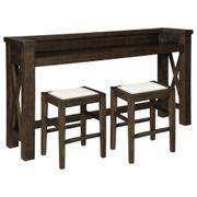 Counter Height Dining Table and 2 Barstools Product Image