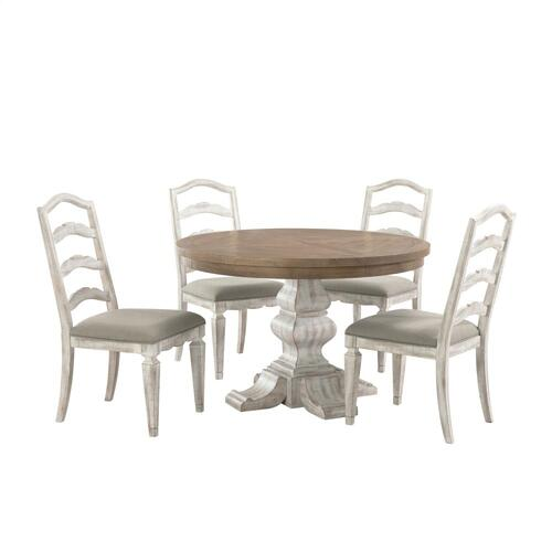 Madison - Round Pedestal Dining Table - Caramel Finish