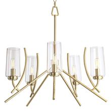 See Details - Tulip Chandelier - Satin Brass