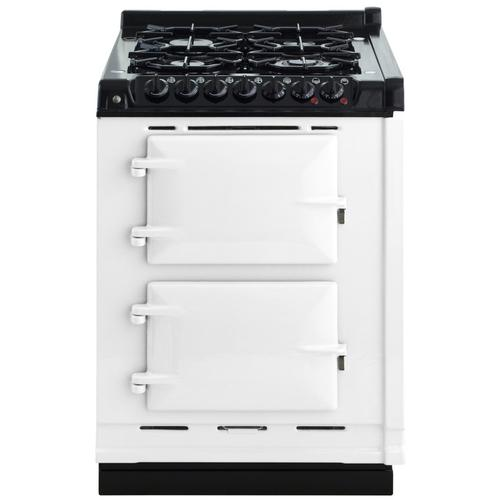 "AGA Module 24"" Electric/Natural Gas White with Stainless Steel trim"