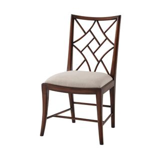 See Details - A Delicate Trellis Side Chair