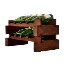 2 x 4 Bottle Modular Wine Rack (Stained)