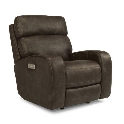 Sassy Fabric Power Gliding Recliner with Power Headrest