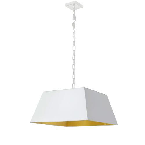 Product Image - 1lt Milano Medium Pendant, Wht/gld Shade, Wht