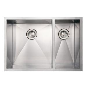 Noah's Collection Commercial Series double bowl undermount sink. Product Image