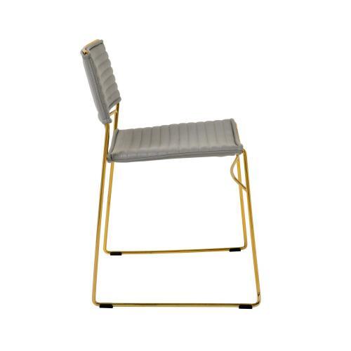 Tov Furniture - Domani Grey Vegan Leather Chair (Set of 2)
