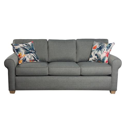 3 Attached fiber filled back pillows over 3 Convo-Lux seat cushions.