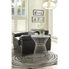 View Product - Round End Table, Glass Insert