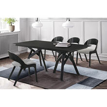 Cortina Polly 5 Piece Black Dining Set