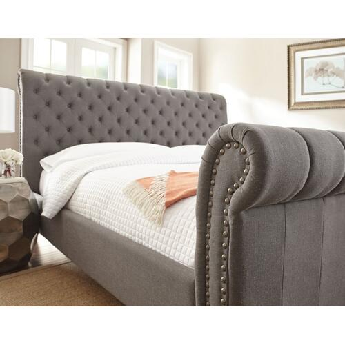 Swanson Queen Bed, Gray