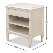 See Details - Landry Side Table, Antique White