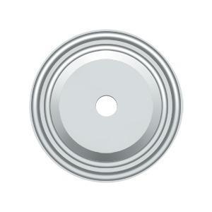 "Deltana - Base Plate for Knobs, 1-1/2"" Diam. - Polished Chrome"