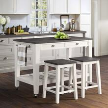 "52"" Counter Height Kayla Kitchen Cart            (stools not included)  (DKY300KTC,75215)"