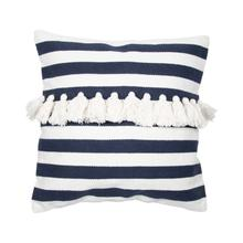Product Image - 20x20 Hand Woven Stripe Pillow Blue