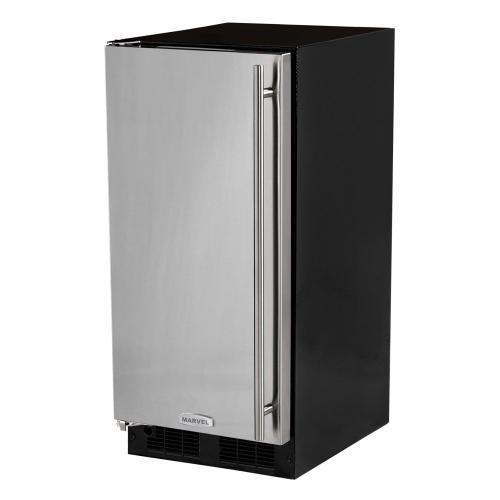 15-In Built-In All Refrigerator with Door Style - Stainless Steel, Door Swing - Left