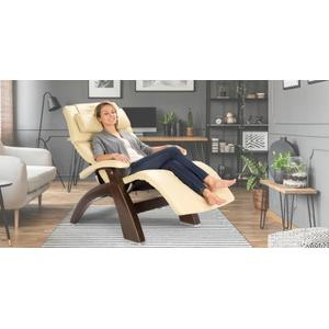 Human Touch - Perfect Chair ® PC-420 Classic Manual Plus - Dark Walnut - Ivory Premium Leather