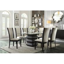 See Details - 5PC SET (Dining Table, Glass Top with 4 Chairs)