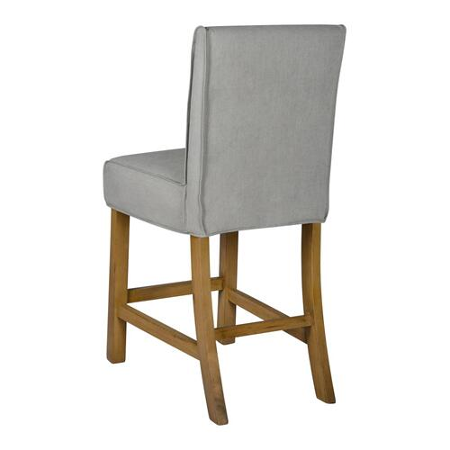 Short Stool Slip Cover-washable + Reversible Gray