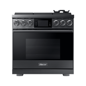 """Dacor36"""" Pro Gas Range, Graphite Stainless Steel, Natural Gas"""